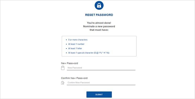 MyAXA Portal Reset Password