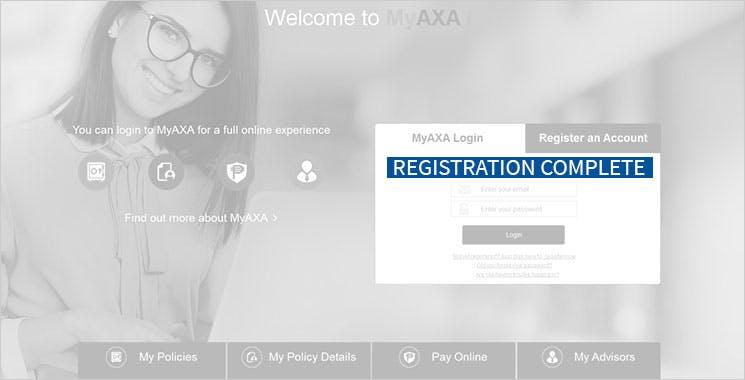MyAXA Portal Register