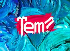 Visuel du logo de l'association Talents en Mouvement avec un effet peinture à l'huile