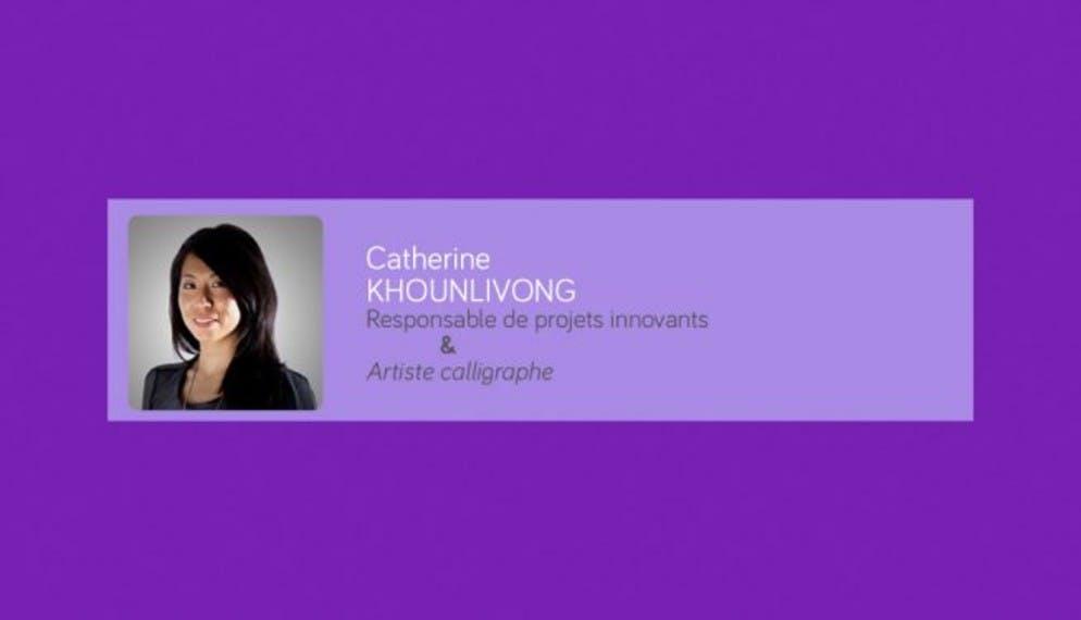 « La calligraphie, une autre manière de percevoir le mouvement.»
