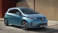 voiture électrique Renault Zoé bleue