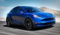 voiture électrique Tesla bleue