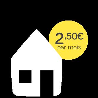 Assurance Habitation - pack electrique - 2,50€ par mois