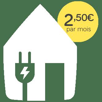 Pack électrique, 2,5 euros par mois
