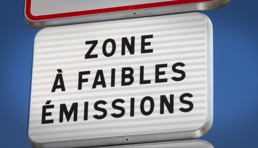 panneau entrée Zones Faibles Émissions