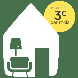 Pack meublé, à partir de 3 euros par mois