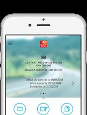 Direct Assurance Application mobile - Vos contrats en un coup d'oeil