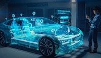 voiture du futur avec de nombreuses innovations