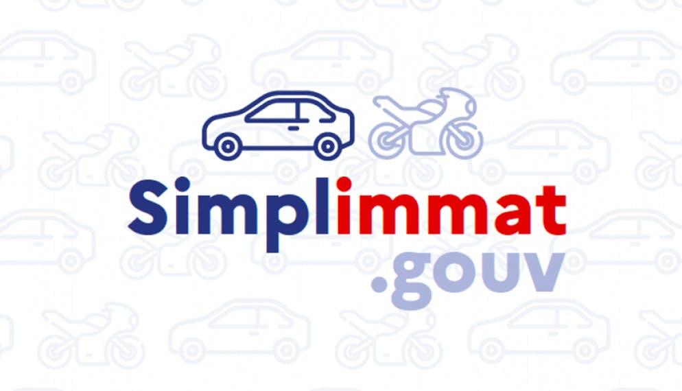 logo nouvelle appli simplimmat.gouv