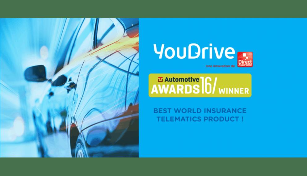 YouDrive élue meilleure assurance auto connectée de l'année aux TU-Automotive Awards 2016 !