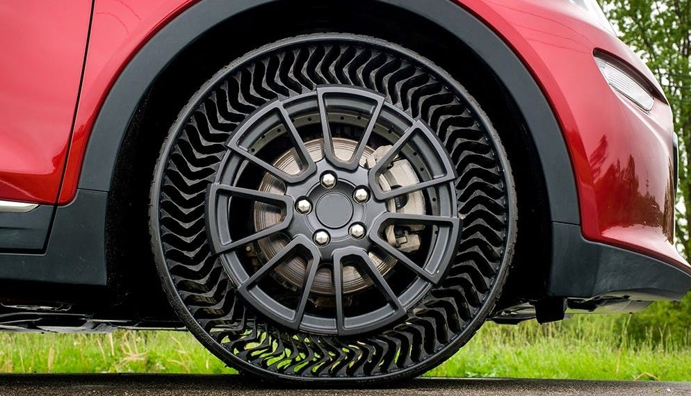 Michelin invente un pneu sans air increvable