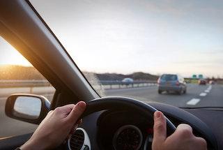 tableau de bord entrée sur autoroute