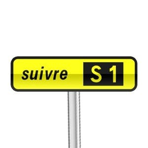 Direct Assurance - Panneau itinéraire de substitution