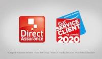 Direct assurance Élu Service Client de l'Année 2020 dans la catégorie Assurance de biens