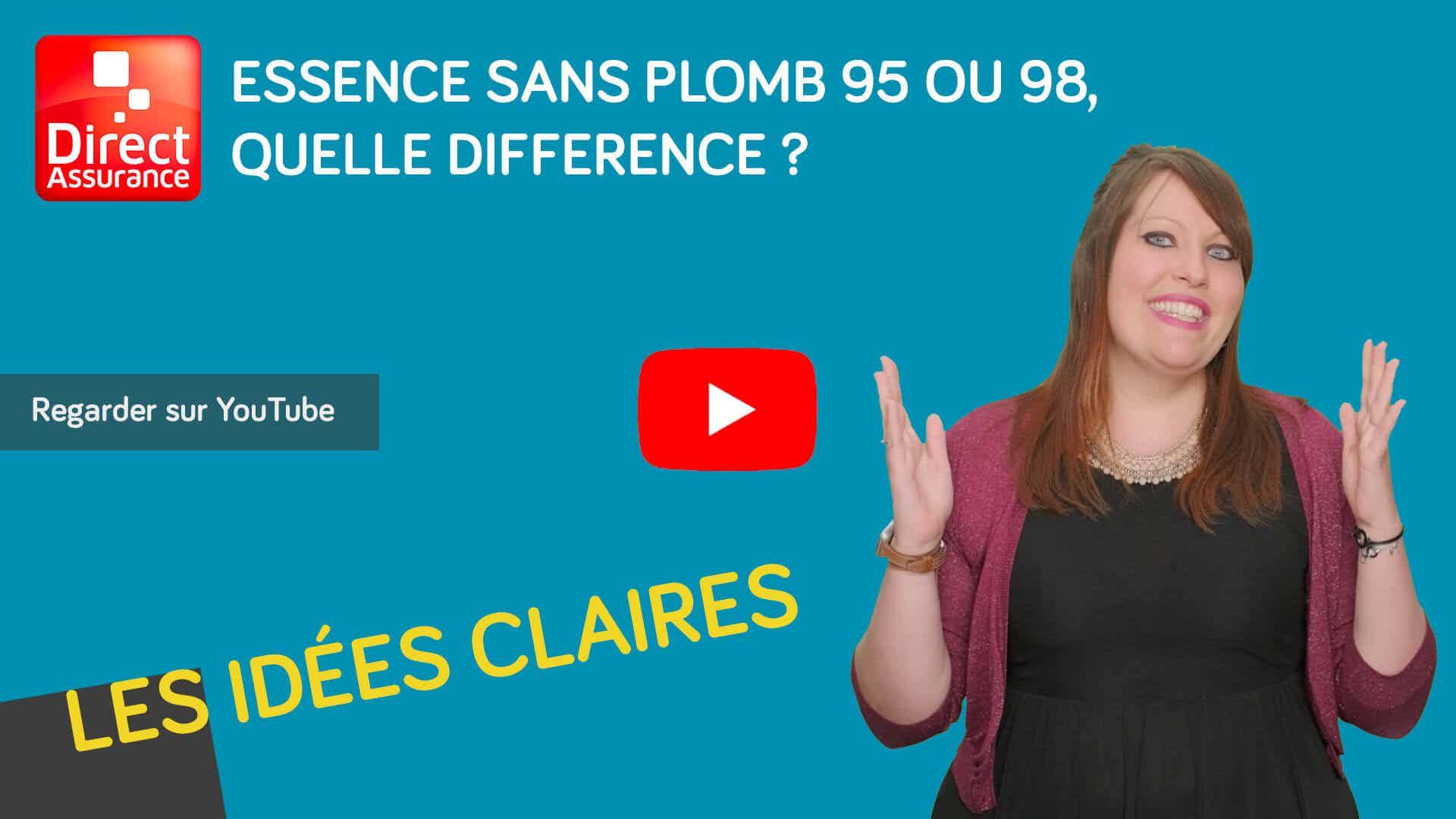 video essence sans plomb 95 et 98 quelles différences