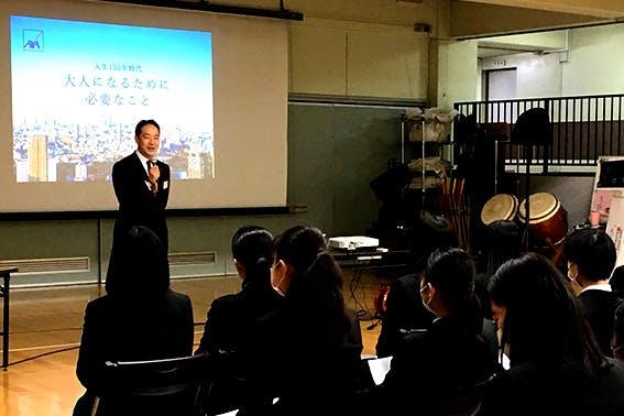 2020年2月26日 潤徳女子高等学校  生徒:146名 講師:東京第一FA支社 須佐 紀雄FA