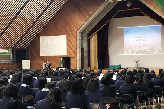 2019年11月2日 立川女子高等学校 生徒:307名 講師:首都圏第五FA支社 野上 雅之FA