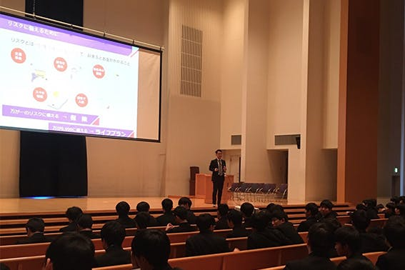 2020年1月14日  東北学院高等学校 生徒:90名 講師:首都圏第五FA支社 野上 雅之FA