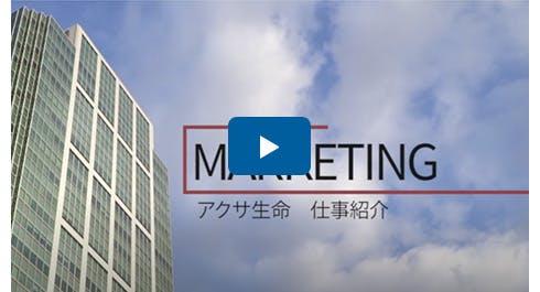 仕事紹介動画 マーケティング部門